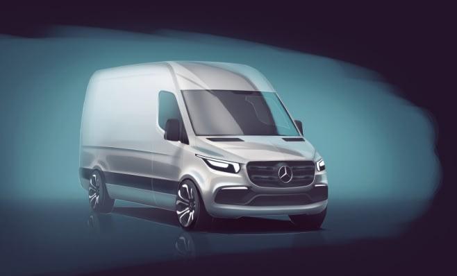 Imagem ilustrativa da notícia: Mercedes-Benz apresenta rascunho da nova Sprinter
