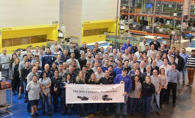 Imagem ilustrativa da notícia: Mercedes chega aos 140 mil CKD exportados
