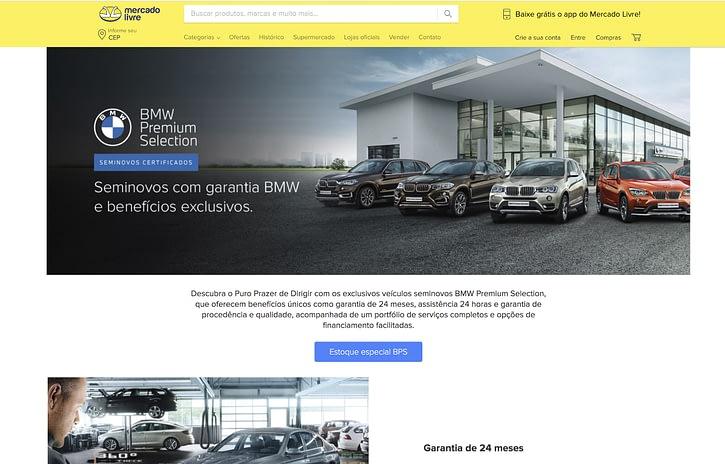 Imagem ilustrativa da notícia: BMW abre sua loja no Mercado Livre