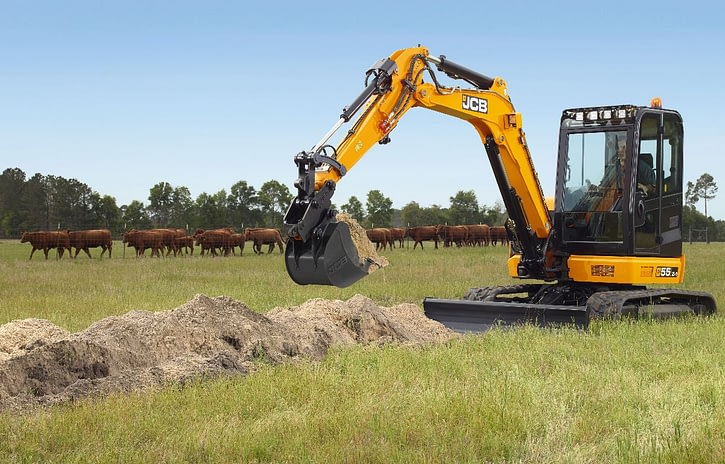 Imagem ilustrativa da notícia: Máquinas de construção JCB: maior demanda da pecuária.