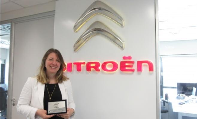 Imagem ilustrativa da notícia: Citroën recebe placa do Prêmio AutoData