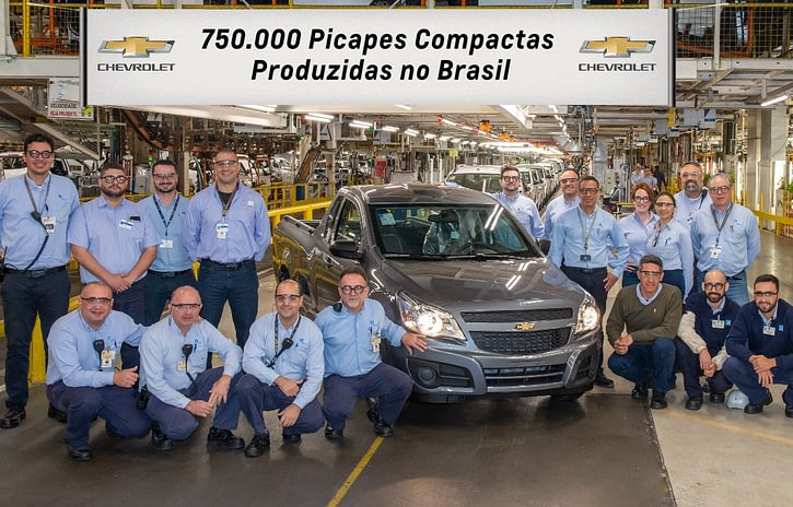 Imagem ilustrativa da notícia: GM celebra 750 mil picapes compactas produzidas