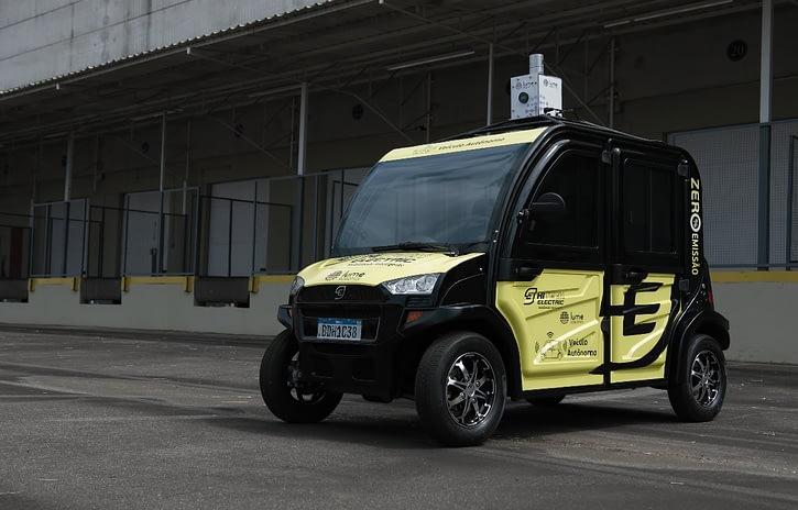Imagem ilustrativa da notícia: Hitech Electric e Positivo lançam carro autônomo elétrico no Brasil