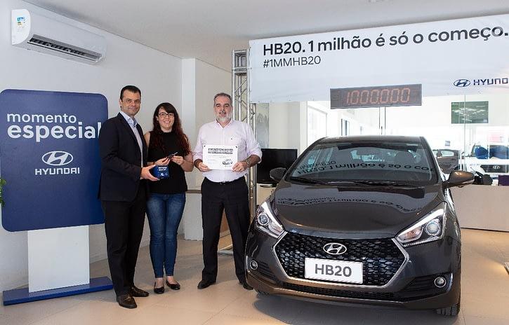 Imagem ilustrativa da notícia: Hyundai comemora 1 milhão de HB20 vendidos