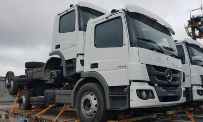 Imagem ilustrativa da notícia: M-B: 350 caminhões para África e Oriente Médio.