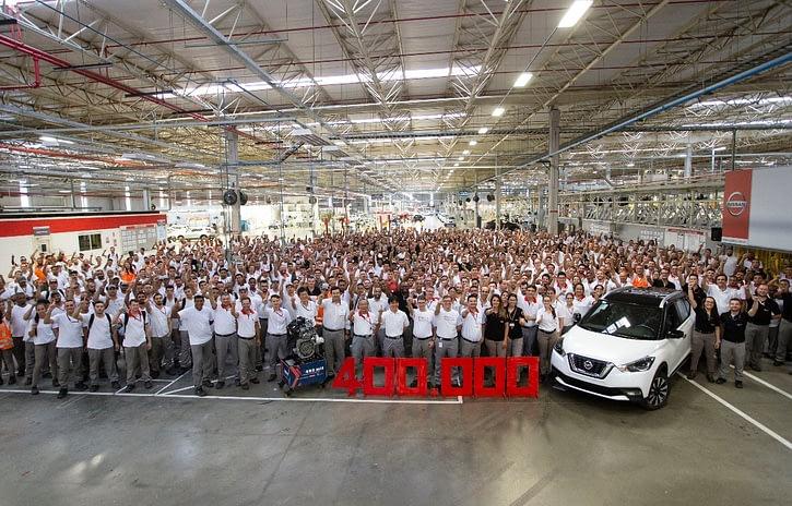 Imagem ilustrativa da notícia: Nissan celebra 400 mil veículos e motores em Resende