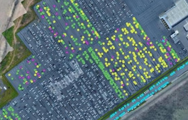 Imagem ilustrativa da notícia: Nissan usa drones para contagem de veículos em Resende