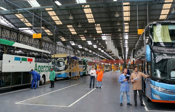 Imagem ilustrativa da notícia: Produção de chassis de ônibus segue em queda