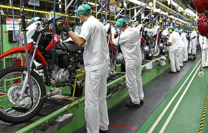 Imagem ilustrativa da notícia: Produção de motocicletas cresce 6% até julho