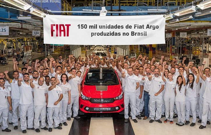 Imagem ilustrativa da notícia: Produção do Fiat Argo chega a 150 mil unidades
