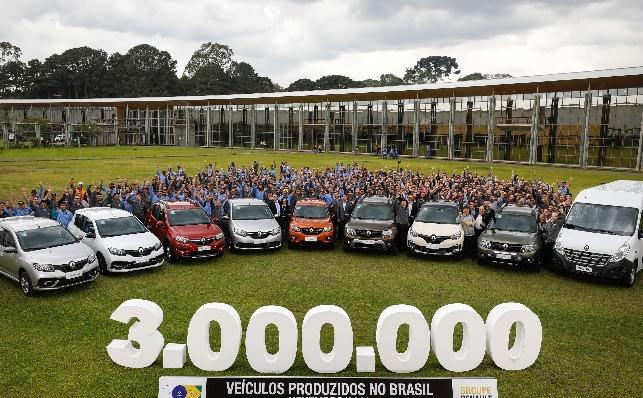 Imagem ilustrativa da notícia: Renault produz 3 milhões de veículos no Brasil