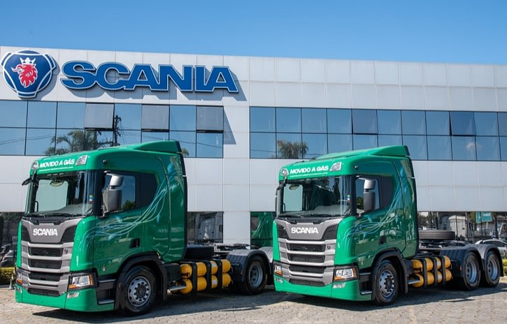 Imagem ilustrativa da notícia: Scania entrega primeiros caminhões a gás