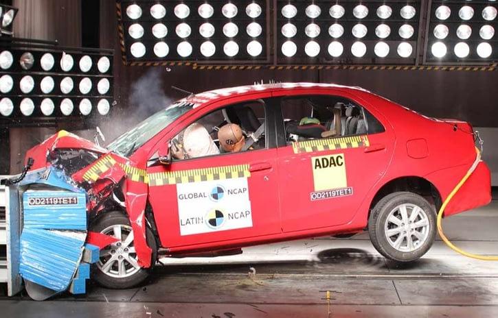 Imagem ilustrativa da notícia: Toyota Etios melhora nota em teste do Latin NCAP