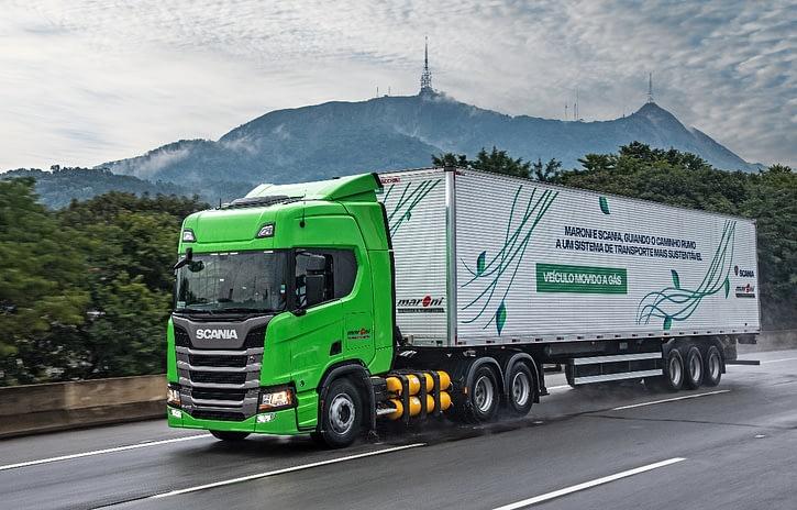Imagem ilustrativa da notícia: TransMaroni tem maior frota de caminhão a gás Scania do Brasil