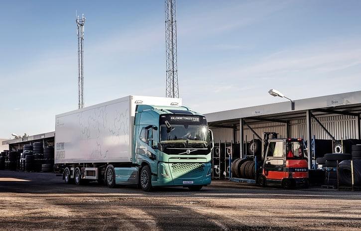Imagem ilustrativa da notícia: Volvo prepara seu segundo passo na eletrificação de caminhões