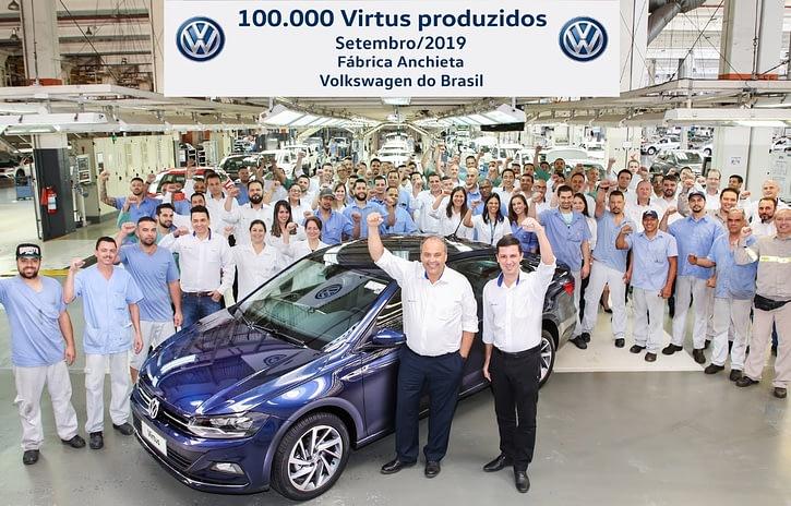 Imagem ilustrativa da notícia: Volkswagen chega a 100 mil Virtus produzidos no Brasil