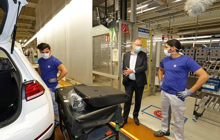 Imagem ilustrativa da notícia: Volkswagen retoma produção em Wolfsburg