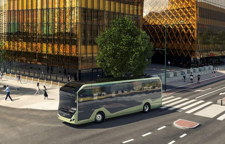 Imagem ilustrativa da notícia: Volvo Buses apresenta seu novo chassi elétrico na Europa