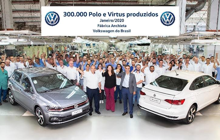 Imagem ilustrativa da notícia: Volkswagen chega aos 300 mil Polo e Virtus produzidos